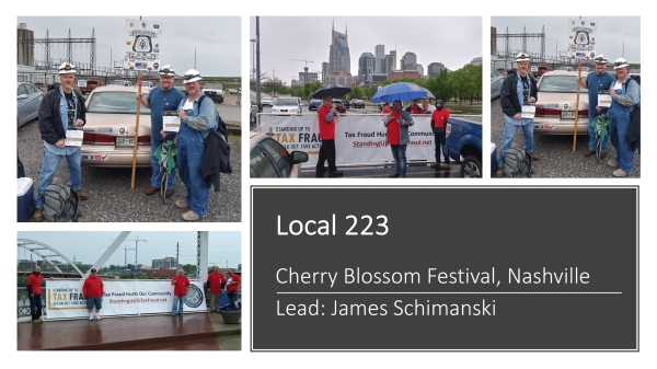 Well Done Local 223 Volunteers!